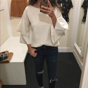 Madewell tier sleeves pullover sweater